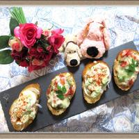 【ブルスケッタ バジル香るトマトソースで朝食】トマト果肉100%の簡単お手軽レシピ