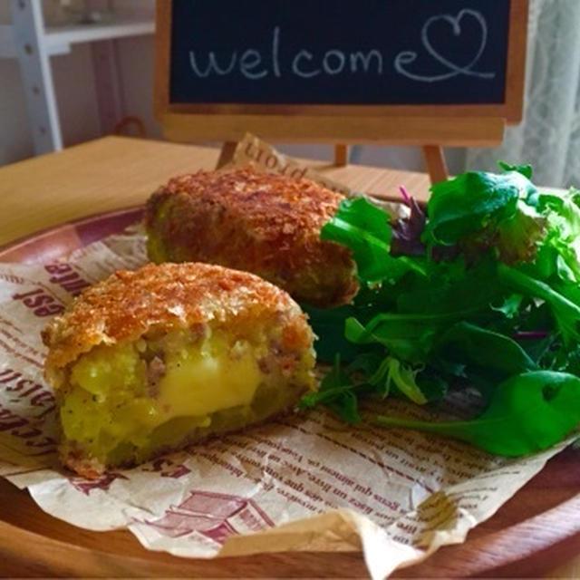 【今が旬】【簡単】とろ〜りチーズが最高♡さつまいものチーズコロッケ