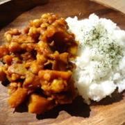 かぼちゃと豆のノンオイルドライカレー