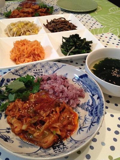 ちょっとだけ手間をかけて韓国オンマの「豚キムチ」。