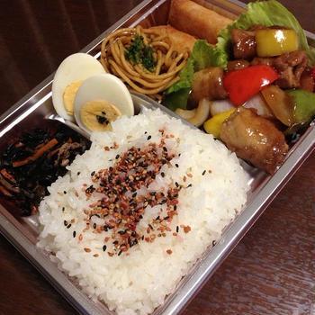 7月24日お弁当:黒酢酢豚弁当