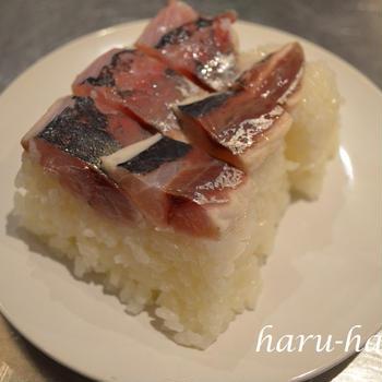 鯵の押し寿司風♬