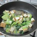 青梗菜と厚揚げのオイスターソース炒め