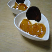 アプリコット(杏)とバニラアイスのデザート