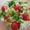 カラフル野菜ソテーのマカロニサラダ♪