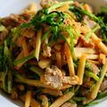 中華風 豚ヒレ肉と筍、芹の炒め物