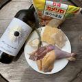 ホロホロ鳥とパプリカの白ワイン煮込みのパスタ