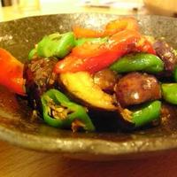 夏野菜の花椒炒め