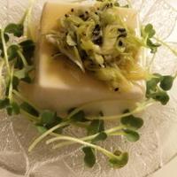 【レシピ】柚子こしょう風味のネギ塩たれ乗せ豆腐