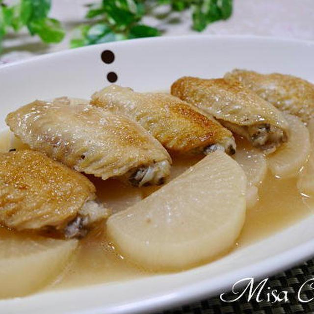 鶏手羽先肉と大根煮