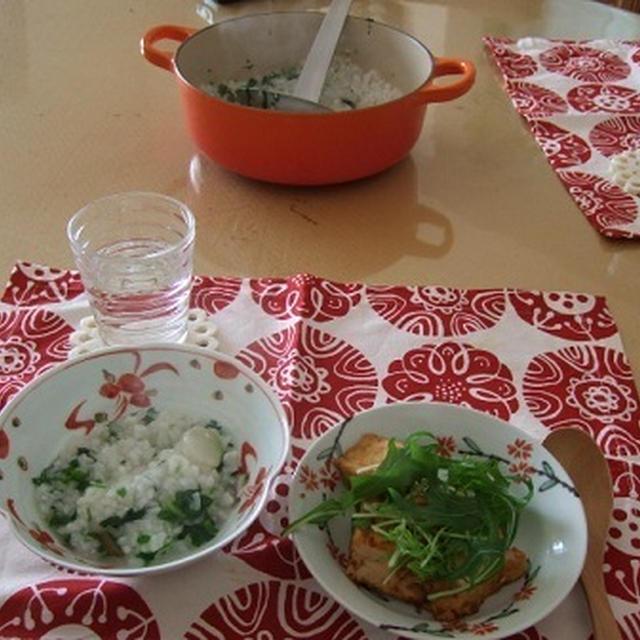 塩麹と鶏がらスープの素で七草粥~