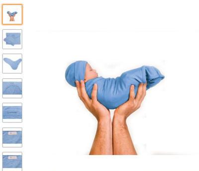 夜泣き対策,バタフライ型でしっかり赤ちゃんを包むメリノウールおくるみ、帽子つき