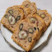黒豆と栗のパウンドケーキ