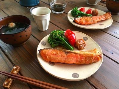 サケのごま味噌漬け焼き(下味冷凍)と豆乳ぱん、パウンドケーキ*冷凍つくりおき*魚*自家製インスタントお味噌汁に味噌玉