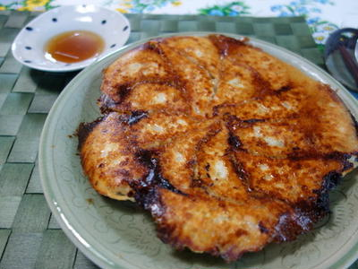 紫蘇餃子と春雨麻婆