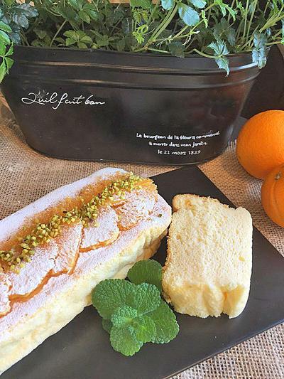 生クリームなしのフワフワ・シュワッのオレンジ香るフルーティーなスフレチーズケーキ~富士山綺麗!!