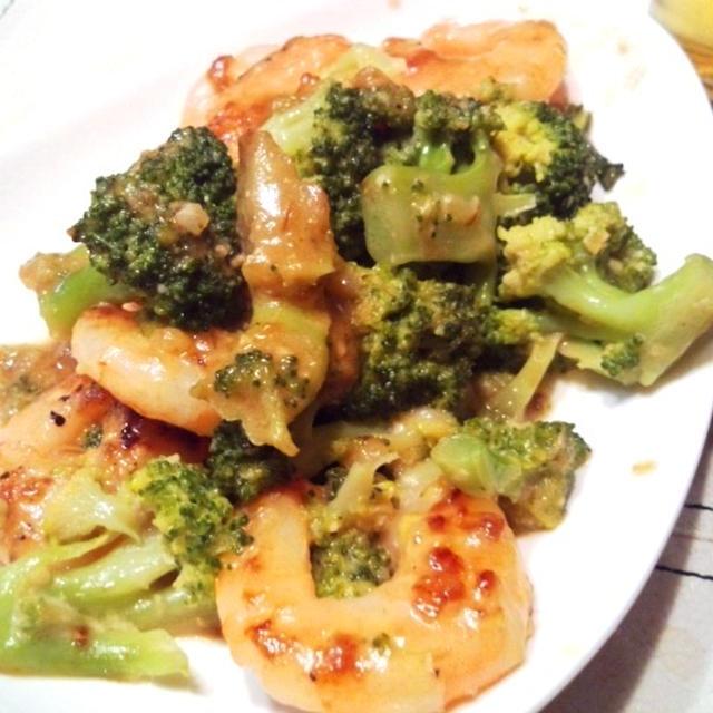 酒とYシャツと私 7月5日の晩ご飯【ブロッコリーとエビの味噌マヨ炒め】