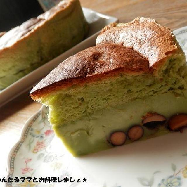 簡単★抹茶と黒豆のマジックケーキ