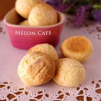 ホットケーキミックスでつくる、ころころサクサク簡単ミニメロンパンクッキー☆(材料4つ・3step)ハウスパパンでお料理上手