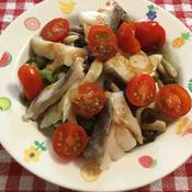 タラと白菜のスタミナ蒸し