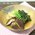 春菊の大量消費♪春菊・椎茸・油揚げの煮物