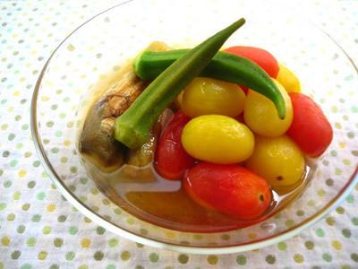 夏野菜の冷たい煮びたし