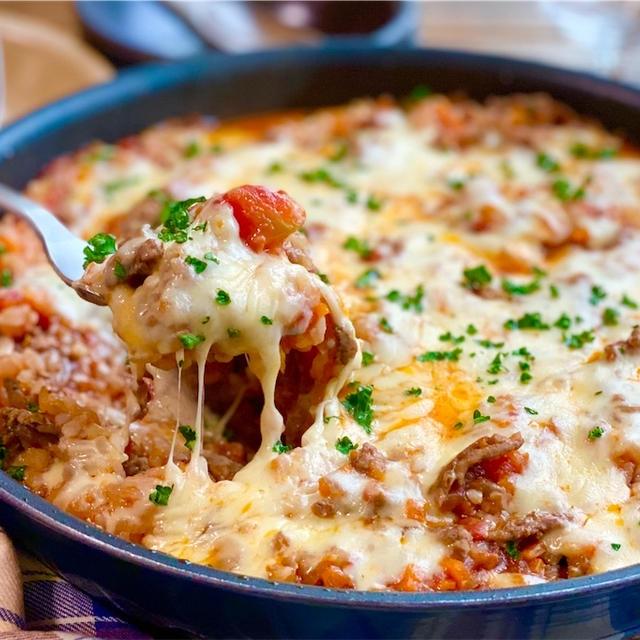 【レシピ】フライパンで簡単♬絶品ミートソースドリア♬