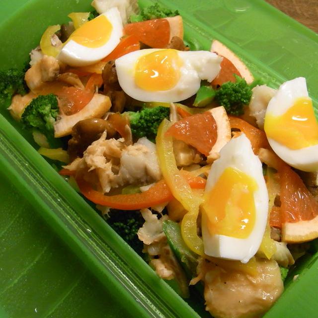 レンジで、野菜たっぷり蒸し魚(ルクエを使って)