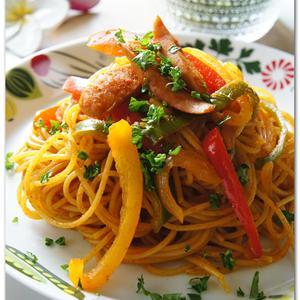 カレーナポリタンスパゲッティー