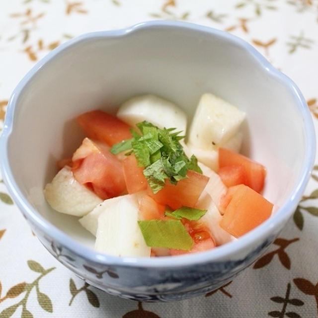 長いもとトマトのしょうゆがけ 調理時間5~15分