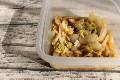 5分でできる常備菜。やみつき白菜なんばん(甘酢あえ)
