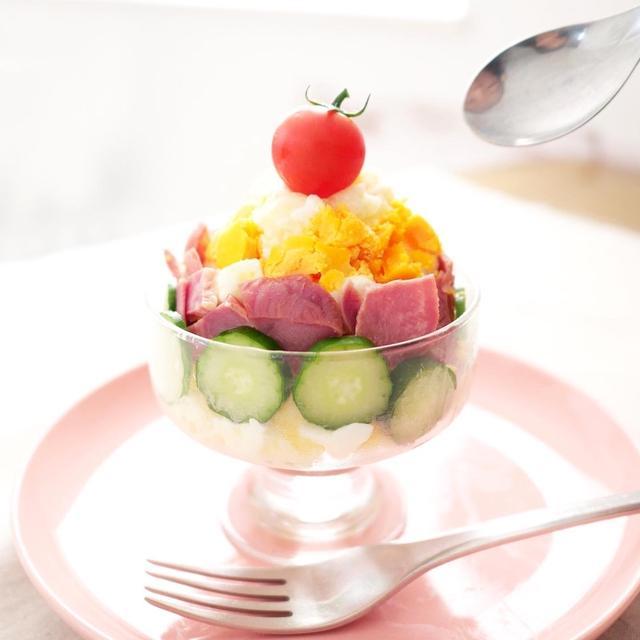 かき氷みたいなふつうのポテトサラダ