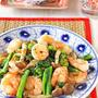ぷりぷり海老と青菜のにんにく塩炒め☆フライパンでパパッと中華