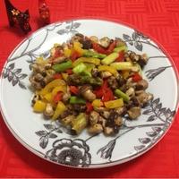 凄~く簡単♪『【ミニ生椎茸】と野菜のカラフル炒め』☆ハウスの『パラッと旨炒めペースト』を使って♪