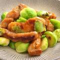 豚肩ロースと芽キャベツの炒め物