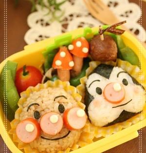 【作り方】アンパンマンとおむすびマンおにぎりの作り方。