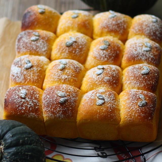 ■カスタードクリーム入りのカボチャちぎりパン