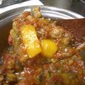 『夏野菜と牛薄切り肉の煮込み』 余った野菜をラタトゥイユ風に