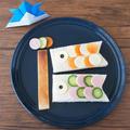こどもの日に♪ かんたん鯉のぼりオープンサンド。 by musashiさん