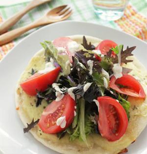 フライパンde作る『サラダピザ』