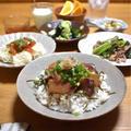 【豚肉と小松菜の塩レモン炒め】#スピードおかず#簡単#夏バテ予防おかず …暑い日の食べやすさ重視晩ごはん。