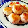 ♡Wチーズde作る♪ふわもち食感♡はんぺん魚肉ソーセージ焼き♡【おやつ*簡単*粉チーズ】