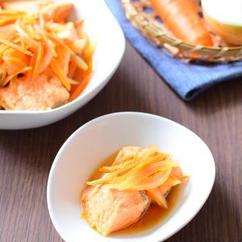 鮭は揚げない簡単、南蛮漬けのレシピ