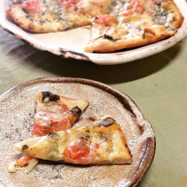 ピザ/貫入皿