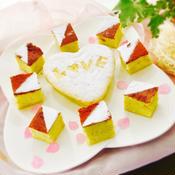 お餅とあんこでバレンタインケーキ