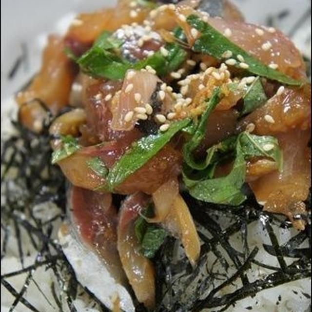 アジの漬け丼。<酢飯の基本レシピ>