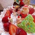 苺のショートケーキでクリスマス♪ by ハッピーさん