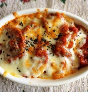 ズボラ飯 お麩のトマトグラタン