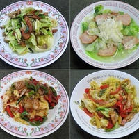 キャベツ料理で朝ごはん:野菜食日記[611]-[614]