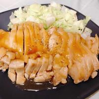 【牡蠣だし醤油】と【レンジ】だけで簡単!冷めた方が美味しい!鶏もも肉のチャーシュー